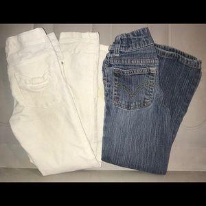 Gymboree & Levi's girls jeans size 6